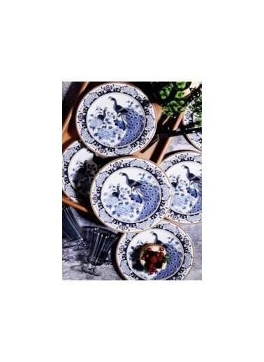 Kosova PST0001-GEYŞA Kosova 6'Lı Pst-0001 Yuvarlak Pasta Tabağı 20 Cm (Geyşa) Renkli